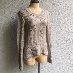 Free People Chunky Knit Pullover Sweater